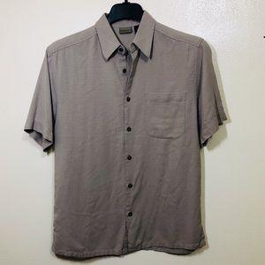 🔵 Axist 100% Silk Short Sleeve Button Front Shirt